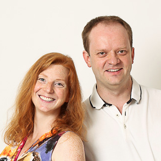 Photo of the developers Sara and Ulf Adams